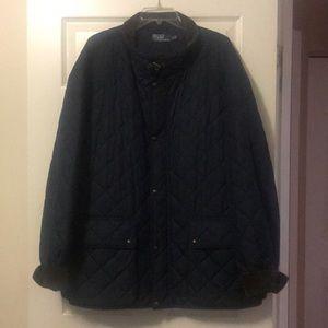Polo by Ralph Lauren Navy Puffer Lightweight Coat